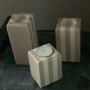 Pillar tea light candle holders